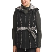 CoVelo Amelia Boiled Wool Vest - Faux-Fur Trim (For Women) in Black - Closeouts