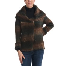 CoVelo Chameleon Cardigan Sweater - Asymmetric Zip (For Women) in Brown - Closeouts