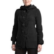 CoVelo Chelsea Hooded Cardigan Sweater (For Women) in Black - Closeouts