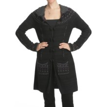 CoVelo Knit Sweater Coat (For Women) in Black - Closeouts