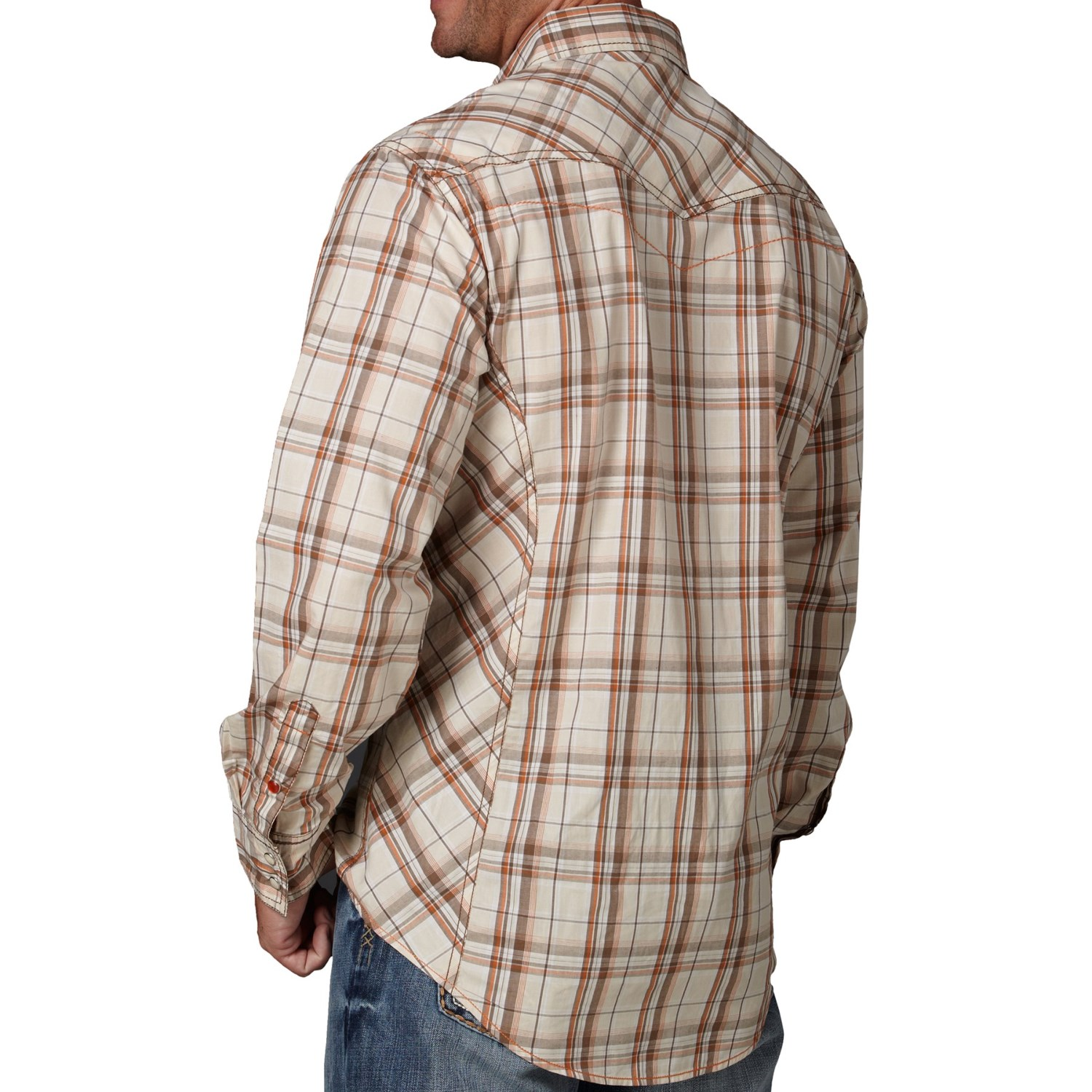 Cowboy up plaid shirt for men 7104f save 76 for Plaid shirt long sleeve