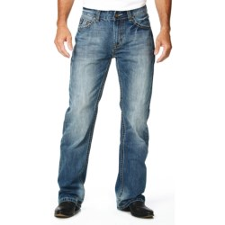 Cowboy Up Trophy Jeans - Bootcut Leg (For Men) in Light Stonewash