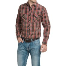 Cowboy Up Washed-Cotton Plaid Shirt - Snap Front, Long Sleeve (For Men) in Red/Brown - Closeouts