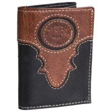 Cowboys of Faith Crazy Horse Wallet - Leather (For Men) in 915 Black/Brown - Closeouts