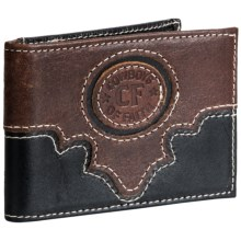 Cowboys of Faith Crazy Horse Wallet - Money Clip, Leather (For Men) in 915 Black/Brown - Closeouts