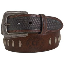 Cowboys of Faith Leather Belt (For Men) in Brown - Closeouts