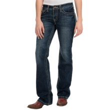 Cowgirl Up Diamond in the Rough Jeans - Mid Rise, Bootcut (For Women) in Medium Stonewash - Closeouts