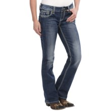 Cowgirl Up Easter Shoes Jeans - Low Rise, Bootcut (For Women) in Dark Stonewash - Closeouts