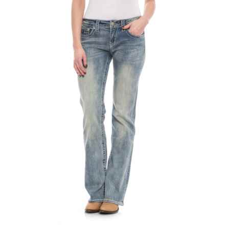 Cowgirl Up Frankie Relaxed Jeans - Bootcut (For Women) in Light Stonewash - Closeouts