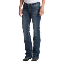Cowgirl Up May Flowers Jeans - Mid Rise, Bootcut (For Women) in Medium Stonewash - Closeouts
