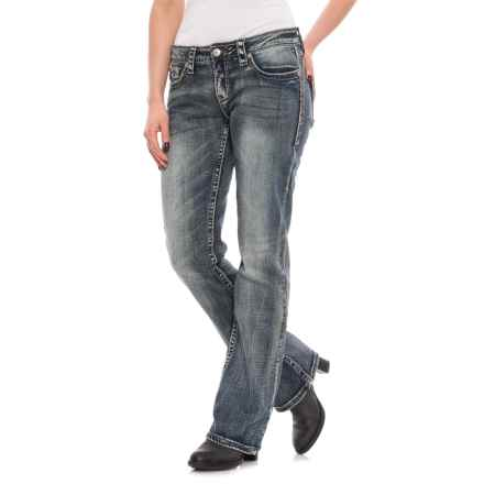 Cowgirl Up Michelle Bootcut Jeans - Relaxed Fit (For Women) in Medium Stonewash - Closeouts