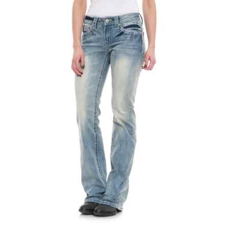 Cowgirl Up Rainy Mid-Rise Jeans - Bootcut (For Women) in Light Stonewash - Closeouts