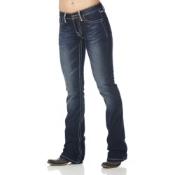 Cowgirl Up Rocky Road Jeans - Leatherette Trim (For Women) in Dark Wash