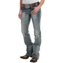 Cowgirl Up Santa Fe Jeans - Mid Rise, Bootcut (For Women) in Light Stonewash - Closeouts