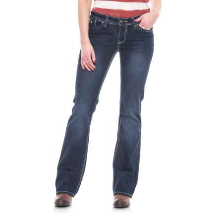 Cowgirl Up Sugar Jeans - Low Rise, Bootcut (For Women) in Dark Stonewash - Closeouts