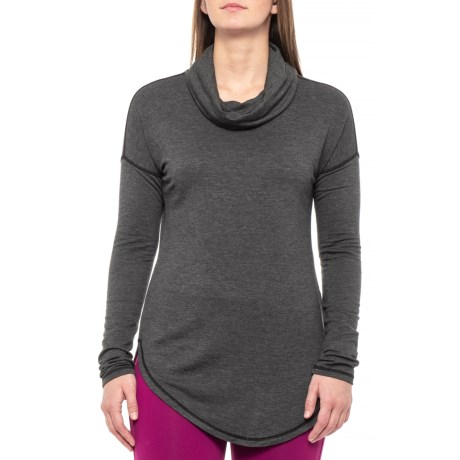 Image of Cowl Neck Shirt - Long Sleeve (For Women)