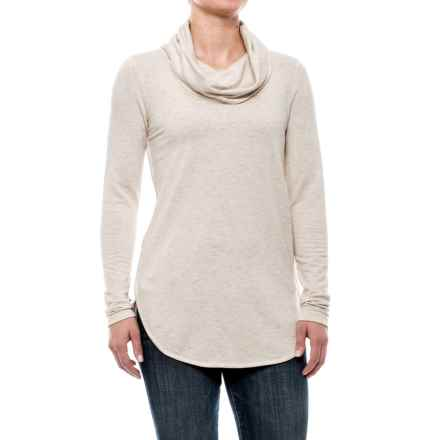 Cowl Neck Shirt - Long Sleeve (For Women) in Pale Pink - 2nds