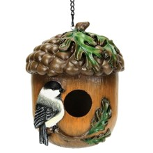 Coynes Nature's Garden Birdhouse in Chickadee On Acorn - Closeouts
