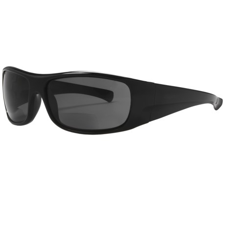 Coyote Eyewear BP-10 Sunglasses - Polarized, Bi-Focal in Black/Grey