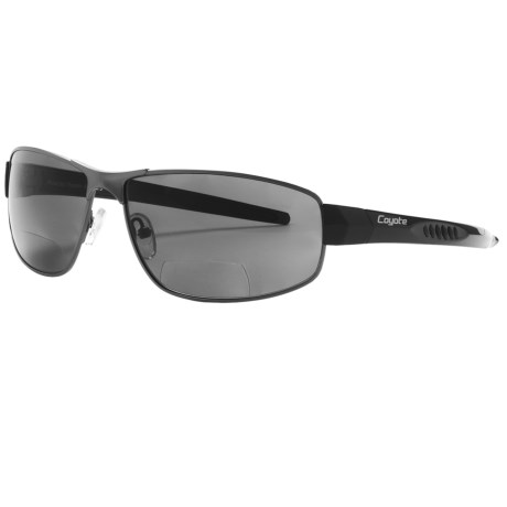 Coyote Eyewear BP-11 Sunglasses - Polarized, Bi-Focal in Matte Gunmetal/Black/Grey