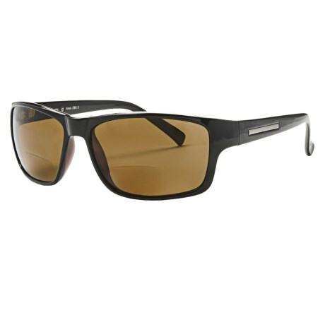 Coyote Eyewear BP-13 Reader Sunglasses - Polarized, Bi-Focal in Black/Brown