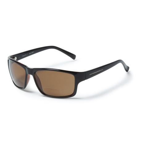 7f2199e16ae Coyote Eyewear BP-13 Wayfarer Reading Sunglasses - Polarized (For Men) in  Black