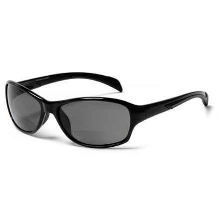 Coyote Eyewear BP-14 Reader Sunglasses - Polarized, Bi-Focal in Black W/ Brown Lens - Closeouts