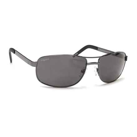 Coyote Eyewear BP-16 Readers Sunglasses - Polarized, Bi-Focal in Gunmetal/Gray - Closeouts