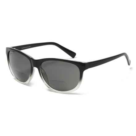 Coyote Eyewear BP-18 Bifocal Reader Sunglasses - Polarized (For Women) in Black Gray - Closeouts