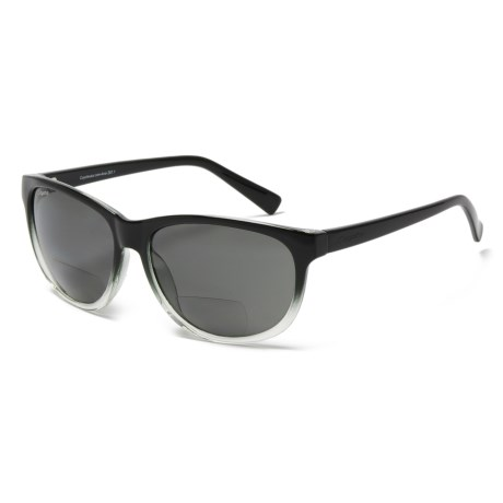 Coyote Eyewear BP-18 Bifocal Reader Sunglasses - Polarized (For Women) in Black Gray