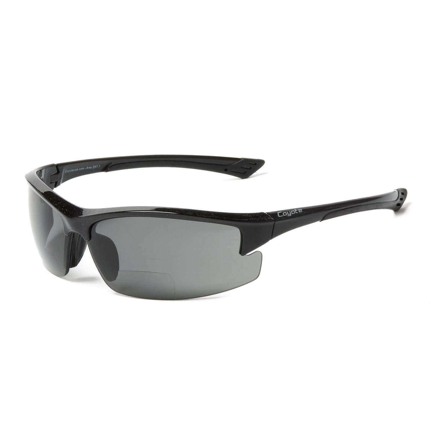 7f6011f4085e Coyote Eyewear BP-7 Rimless Sunglasses - Polarized, Bi-Focal (For Men. Tap  to expand