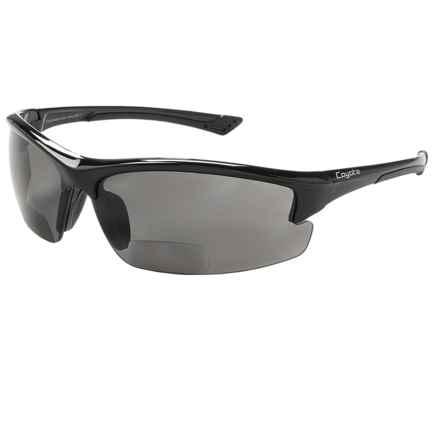 Coyote Eyewear BP-7 Sunglasses - Polarized, Bi-Focal in Black/Grey - Closeouts