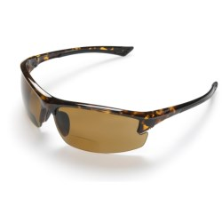 Coyote Eyewear BP-7 Sunglasses - Polarized, Bi-Focal in Black/Grey