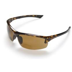Coyote Eyewear BP-7 Sunglasses - Polarized, Bi-Focal in Black/Grey