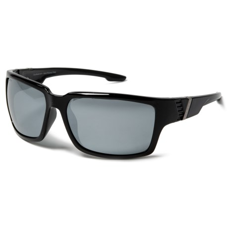 Coyote Eyewear Cobia Sunglasses - Polarized in Black/Gray/Silver Mirror