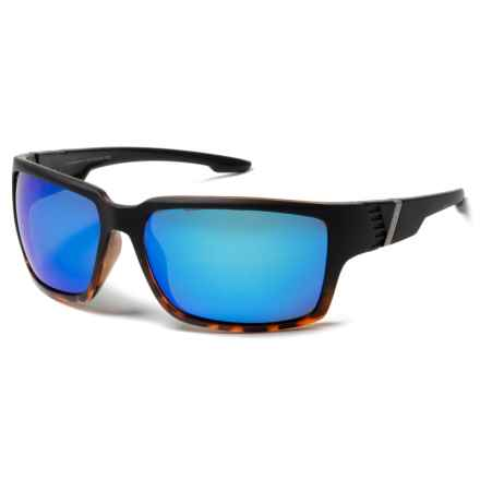 Coyote Eyewear Cobia Sunglasses - Polarized in Black/Tortoise/Blue Mirror - Closeouts