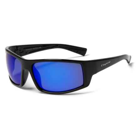 Coyote Eyewear Dorado Sunglasses - Polarized in Black/Gray/Blue Mirror - Closeouts