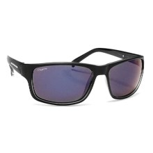 Coyote Eyewear Drifter Sunglasses - Polarized in Black/Blue Mirror - Closeouts
