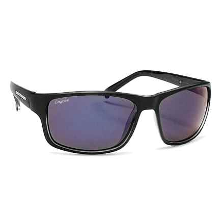 Coyote Eyewear Drifter Sunglasses - Polarized in Black/Blue Mirror - Closeouts