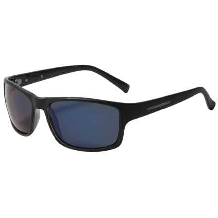 Coyote Eyewear Drifter Sunglasses - Polarized in Matte Black/Blue Mirror - Closeouts