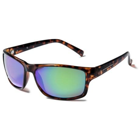 Coyote Eyewear Drifter Sunglasses - Polarized in Tortoise/Green Mirror