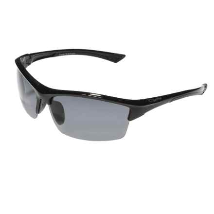 Coyote Eyewear Glacier Sunglasses - Polarized in Black/Grey - Closeouts