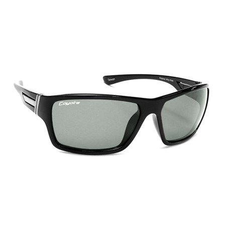 Coyote Eyewear Key West Sunglasses - Polarized in Black/Gray