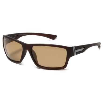 Coyote Eyewear Key West Sunglasses - Polarized in Matte Brown/Brown - Closeouts