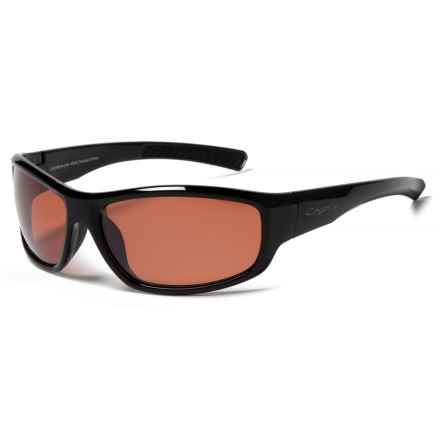 Coyote Eyewear Marlin Sunglasses - Polarized in Black/Rose Flash - Closeouts