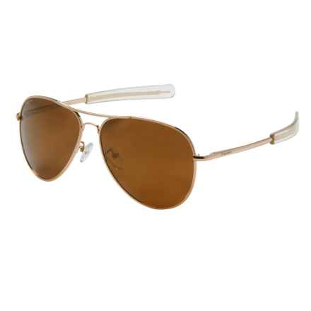 Coyote Eyewear Miramar Sunglasses - Polarized in Gold/Gold Mirror - Closeouts