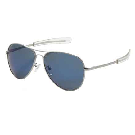 Coyote Eyewear Miramar Sunglasses - Polarized in Matte Gunmetal/Gray Blue Fm - Closeouts