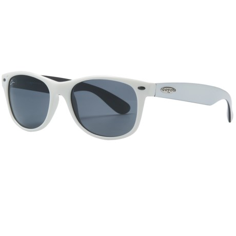 Coyote Eyewear Mojo Sunglasses - Polarized in White/Grey