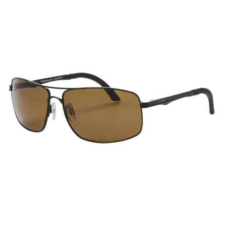 Coyote Eyewear MP-06 Sunglasses - Polarized in Black/Brown - Closeouts