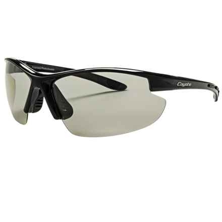 Coyote Eyewear Shifter Sunglasses - Polarized, Photochromic in Black/Grey - Closeouts